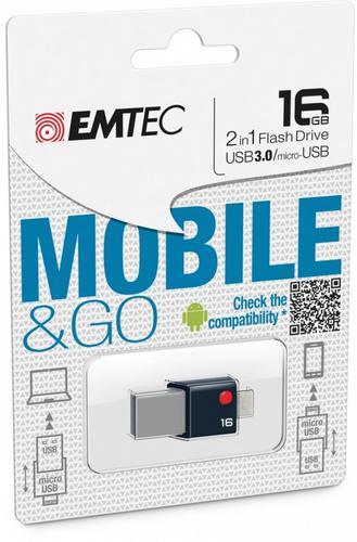 EMTEC Pendrive 16GB OTG T203 MobileGo