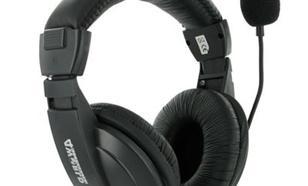 4world stereo z wygodnymi nausznikami i mikrofonem 3m czarne 04165