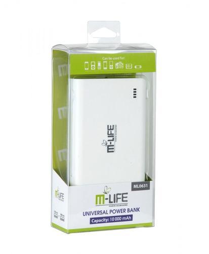 M-LIFE Uniwersalny zasilacz z baterią awaryjną POWER BANK M-LIFE 10000mAh