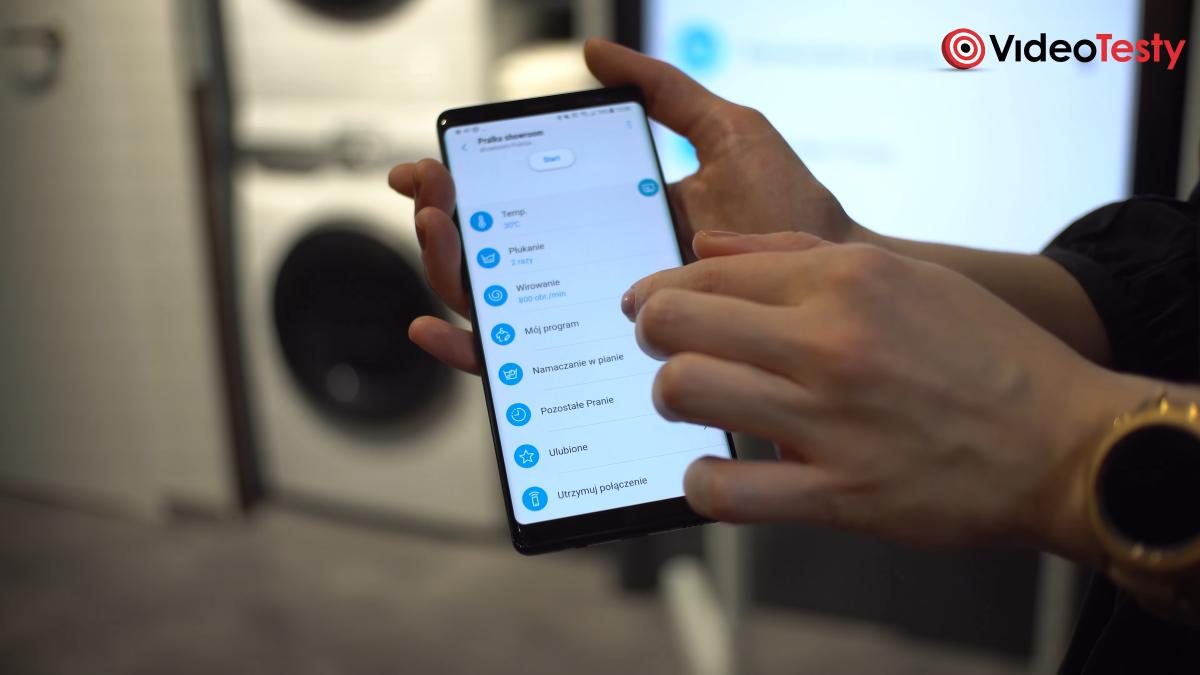 Aplikacja pralki Samsung AI Control