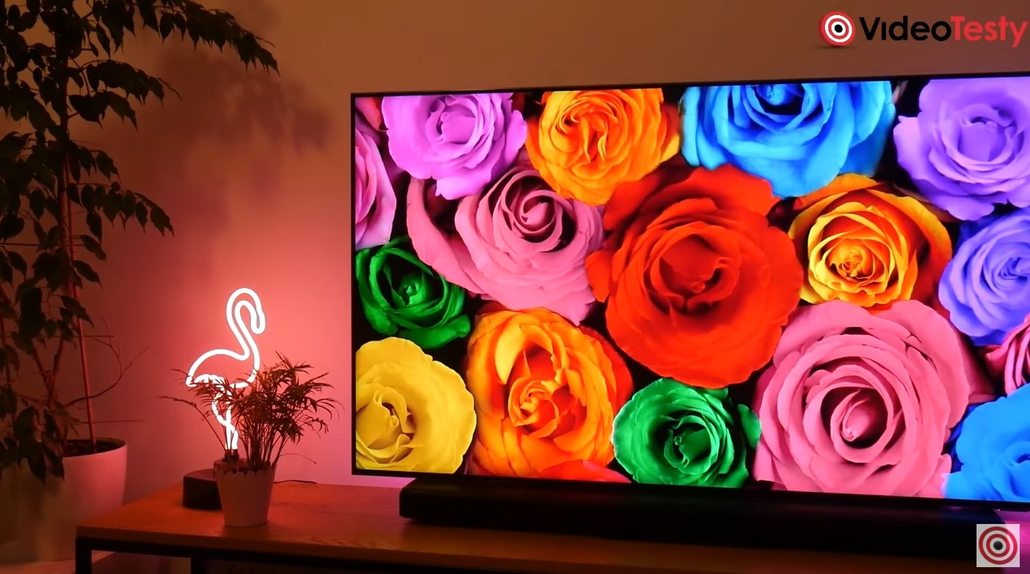 SAMSUNG Q55QN91A bardzo żywe, nasycone kolory matrycy