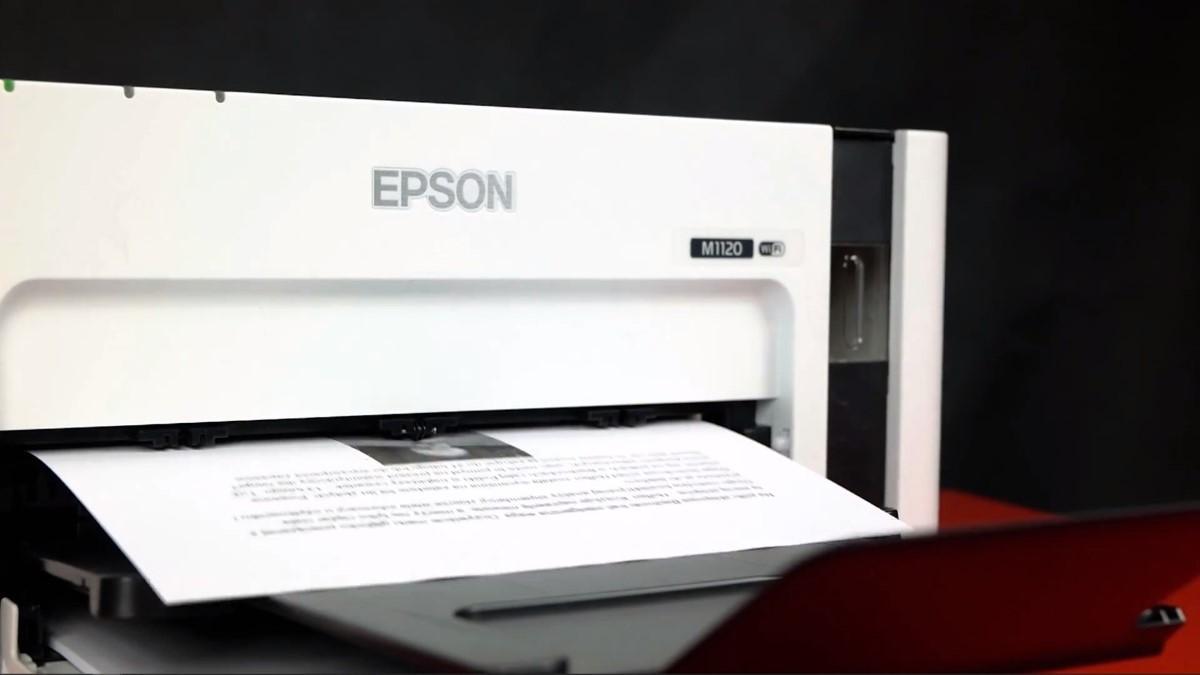 Epson M1120 przy drukowaniu