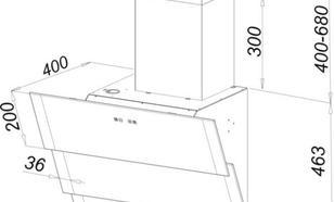 Gorenje Okap kominowy DVG600ZB - Typ II