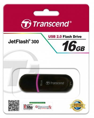 Transcend JETFLASH 300 16GB USB2.0 BLACK
