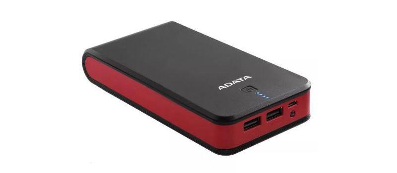 Adata P20100 20100mAh (AP201005VCBKRD) to bardzo pojemny powerbank
