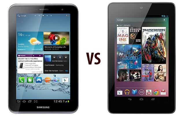 Google Nexus 7 vs Samsung Galaxy Tab 2 7.0 - pojedynek popularnych tabletów