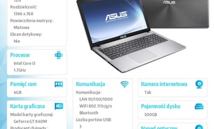 "Asus R510LN-XO101 w/o OS i3-4010U/4GB/500GB/GF840M 2GB/8DL/4c/15.6"" HD non glare DARK GREY"