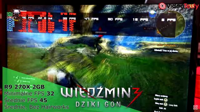 Wydajność Zestawu komputerowego w Wiedźmin 3 Dziki Gon