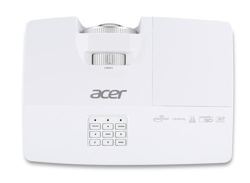 """Acer PJ S1283Hne DLP 1024x768(XGA)/3100lm/13.000:1/2,8kg/RJ45/HDMI(MHL) głośnik 10W (obraz 77"""" z odległości 95 cm, głośnik 10W)"""