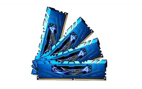 G.SKILL DDR4 32GB (4x8GB) Ripjaws4 2400MHz CL15 XMP2 Blue