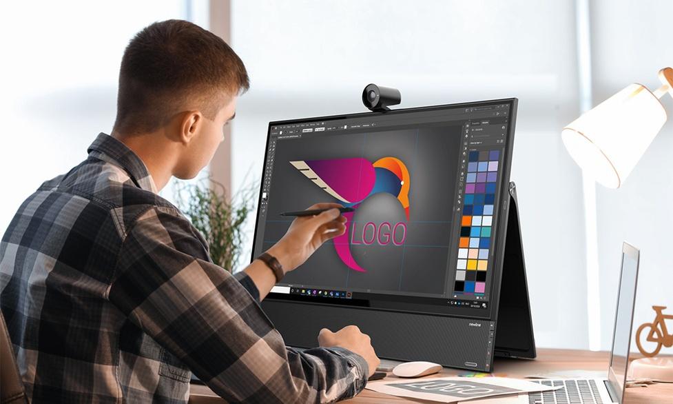 Dotykowy monitor Newline Flex 27 cali do wideokonferencji