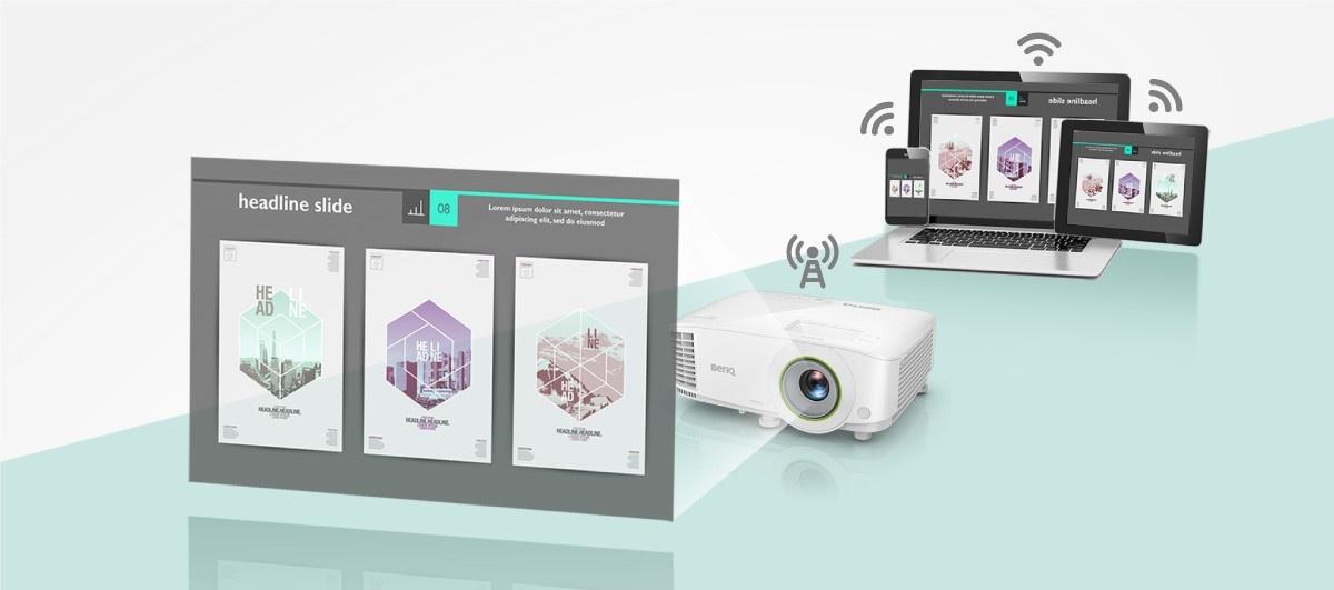 Bezprzewodowe przesyłanie na projektor BenQ