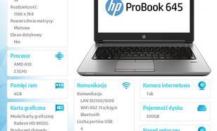 HP 645 A10-5750 W7/8P 500/4GB/DVRW/14 F1N84EA