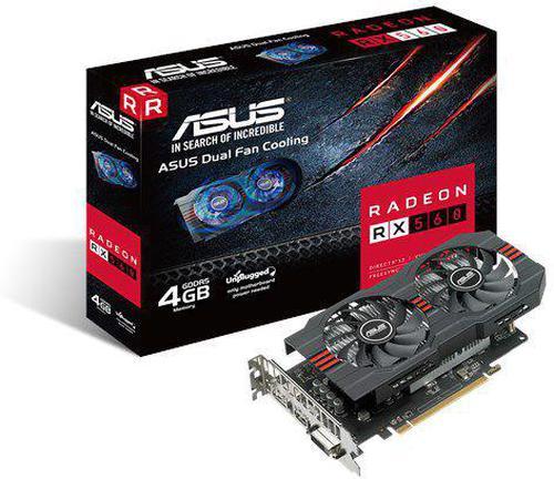 Asus Radeon RX 560 ROG Strix Evo 4GB GDDR5 (128 bit), DVI-D, HDMI, DP (ROG-STRIX-RX560-4G-EVO)