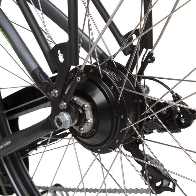 Koło roweru Kawasaki z bliska