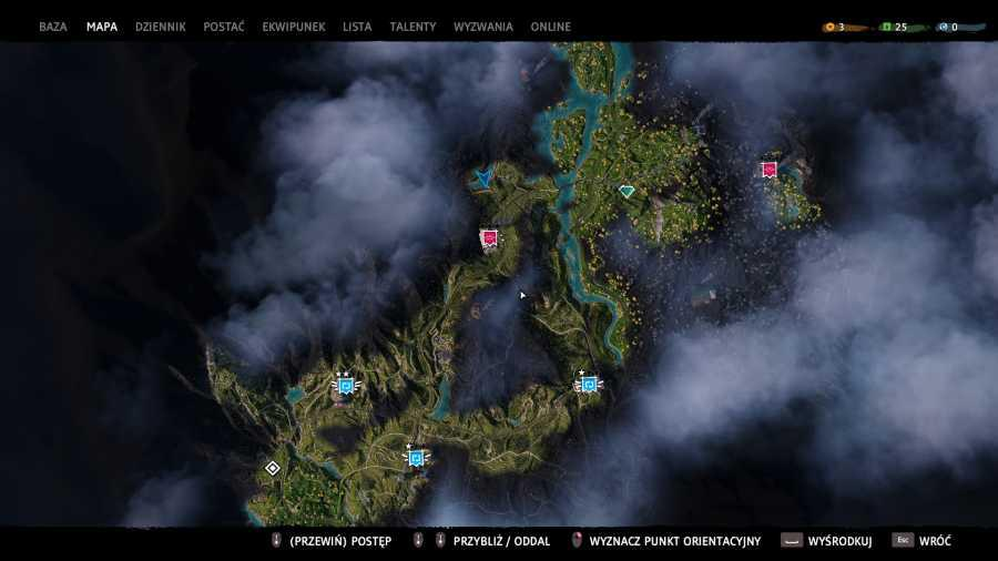 Far Cry: New Dawn - Mapa gry