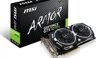 MSI GeForce GTX 1070 Ti Armor 8GB GDDR5 (256 bit) DVI-D, HDMI, 3xDP, BOX