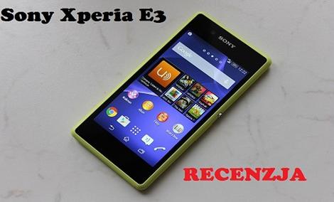 Sony Xperia E3 - Tani Smartfon z LTE