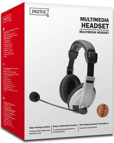 Digitus Stereo Multimedia Headset (DA-12201)