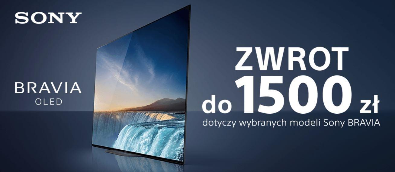 Zwrot do 1500 zł za modele Sony Bravia