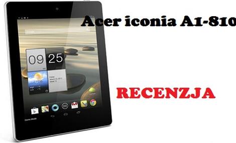 Acer Iconia A1-810 - budżetowy tablet z Tajwanu