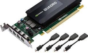 PNY Technologies nVIDIA K1200 Quadro 4GB GDDR5 (128Bit) 4xmDP (RVCQK1200DVI-PB)