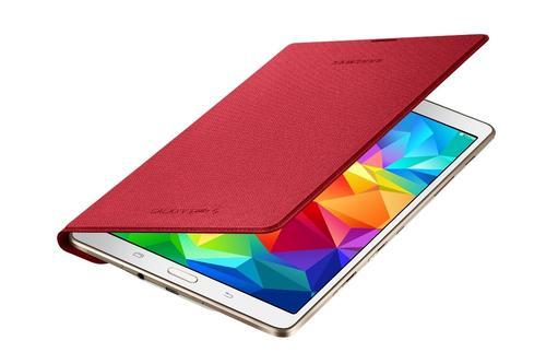 """Samsung Etui w formie """"book cover"""" tylko na przód / Simple cover do GALAXY Tab S 8.4 AMOLED / Klimt (T700/T705) - czerwone"""