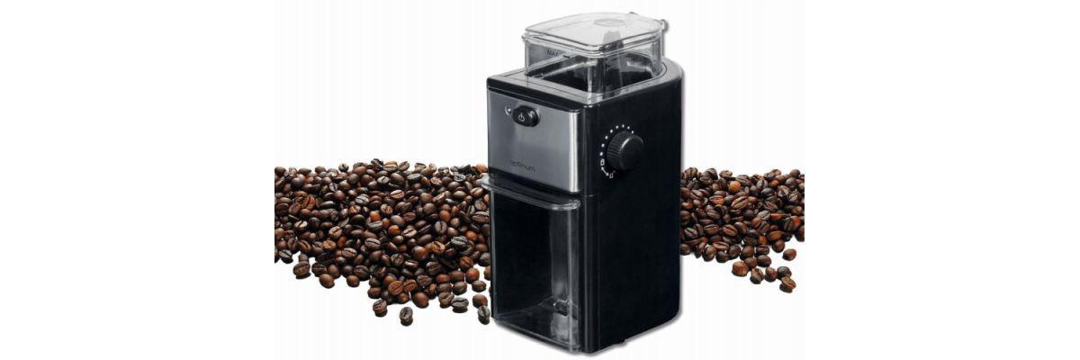 młynek do kawy Optimum i ziarna kawy