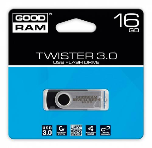 GoodRam TWISTER BLACK 16GB USB3.0