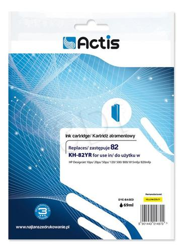 Actis KH-82YR tusz żółty do drukarki HP (zamiennik HP 82 C4913A) Standard
