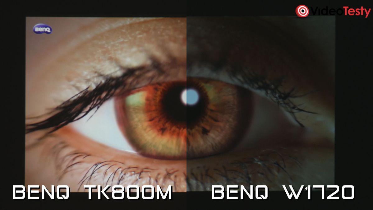 BenQ TK800M i BenQ W1720 porównanie obrazu