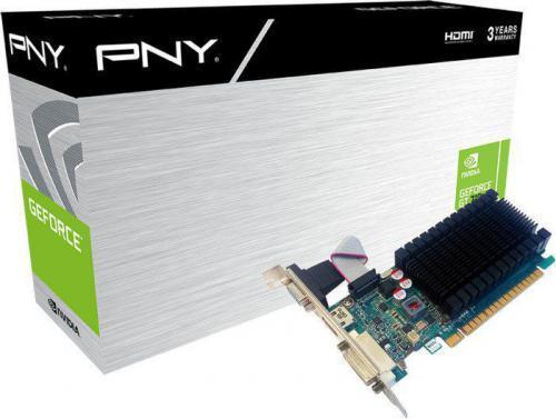 PNY Technologies GeForce GT 710 2GB DDR3 (64 Bit) DVI-D, HDMI, D-Sub (GF710GTLH2GEPB)