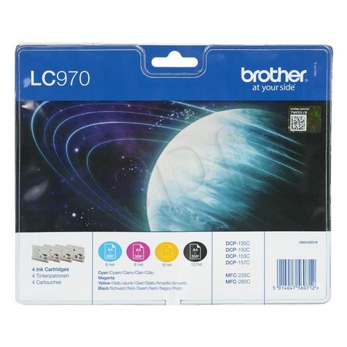 BROTHER Tusz LC970VALBP=LC-970VALBP, Zestaw CMYBk, LC970C+LC970M+LC970Y+LC970BK