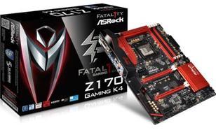 Płyta główna ASRock Gaming K4, Intel Z170, 4x DDR4, SATA3, USB 3.0, GBLAN, ATX