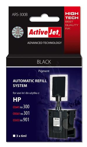 ActiveJet automatyczny system napełniania ARS-300Bk kolor czarny do HP 300/301/901 3x6ml