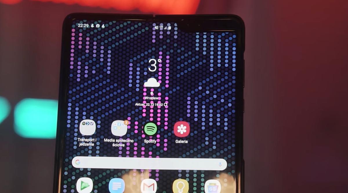 Samsung Galaxy Fold posiada spore wcięcie