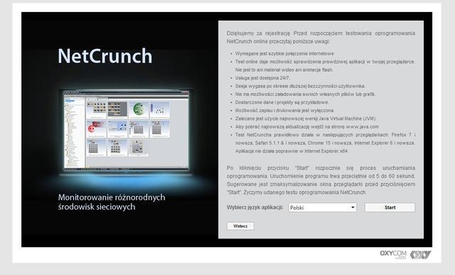 Testowy NetCrunch w chmurze - dzięki OXYDemo