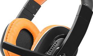 Natec Kingfisher (pomarańczowy) + mikrofon