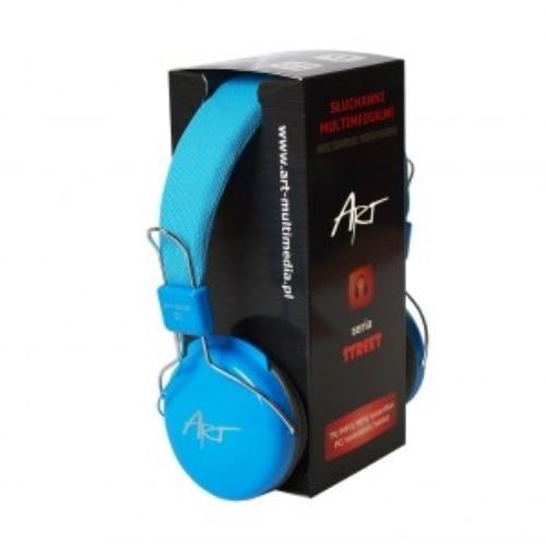 ART Słuchawki AP-60B niebieskie