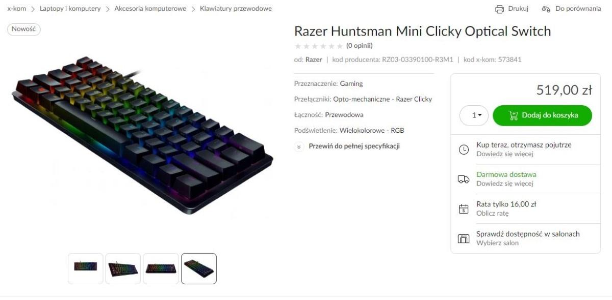 Razer Huntsman Mini w sklepie
