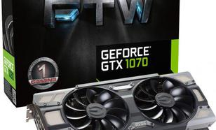 EVGA GeForce GTX 1070 FTW Gaming ACX 3.0 8GB GDDR5 (256 Bit) HDMI, DVI, 3x DP (08G-P4-6276-KR)