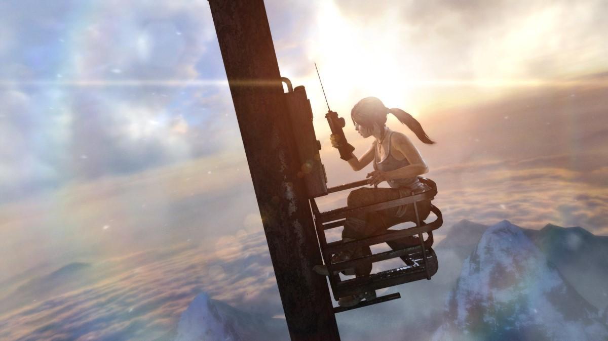 Screen z gry Lara na słupie