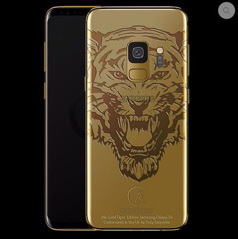 galaxy s9 złoty ryczący tygrys
