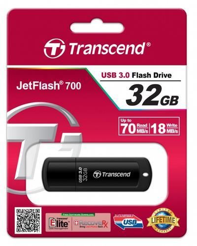 Transcend JETFLASH 700 32GB USB 3.0 BLACK 85/15 MB/s