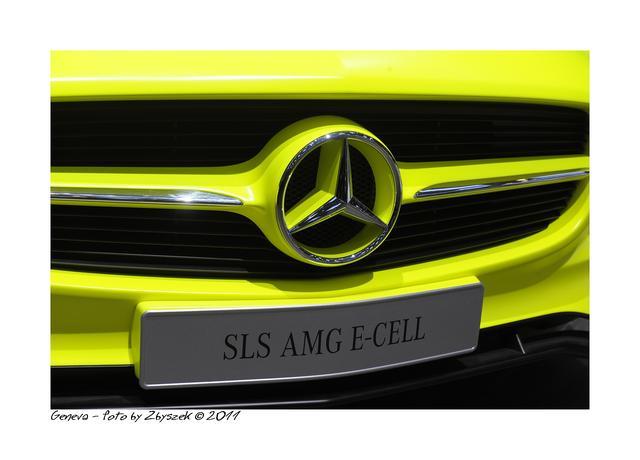 Mercedes SLS AMG E-Cell - galeria zdjęć Genewa 2011