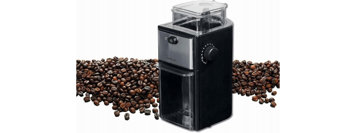 ziarna kawy i młynek do kawy Optimum