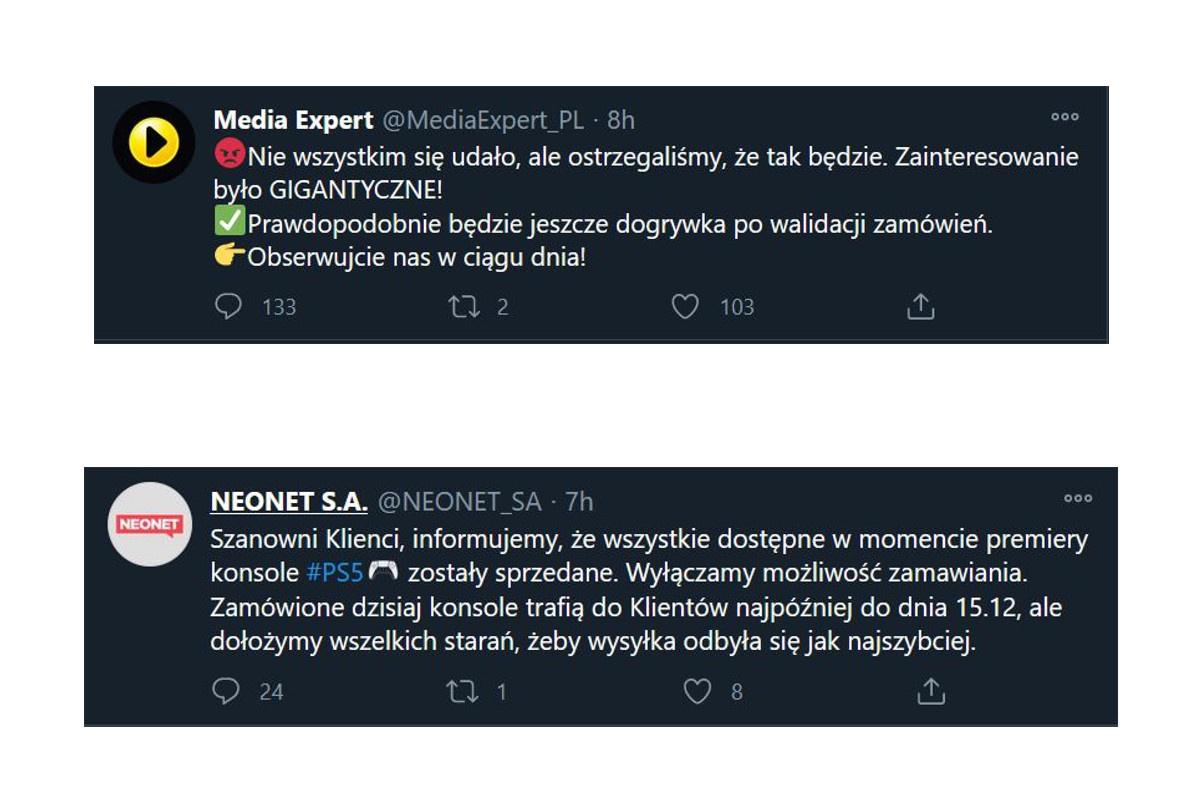 Oświadczenie polskich sklpeów w sprawie premiery PS5
