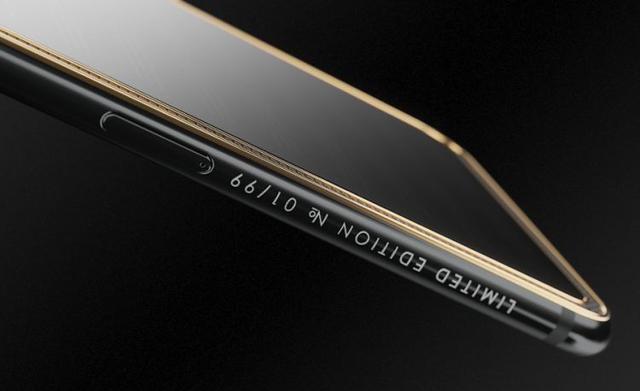 Caviar iPhone X Tesla numery na bocznej krawędzi