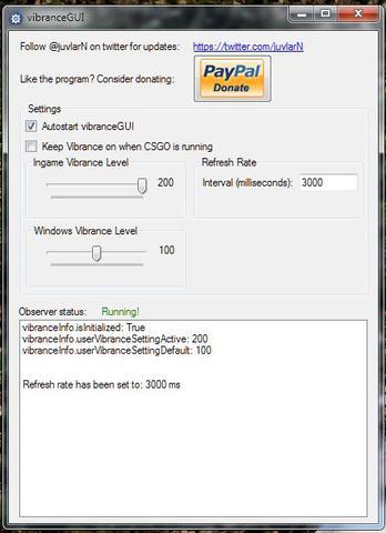 vibranceGUI wersja dla CSGO