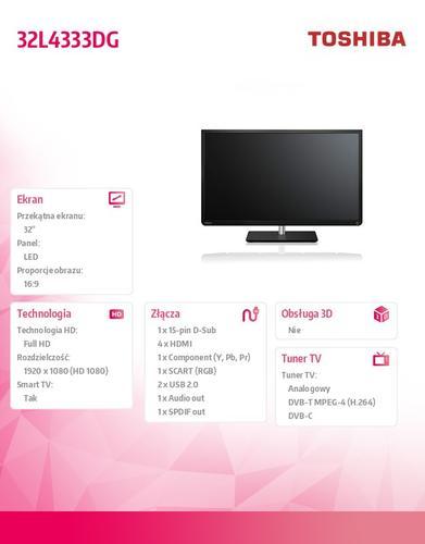 Toshiba 32'' LED 32L4333DG